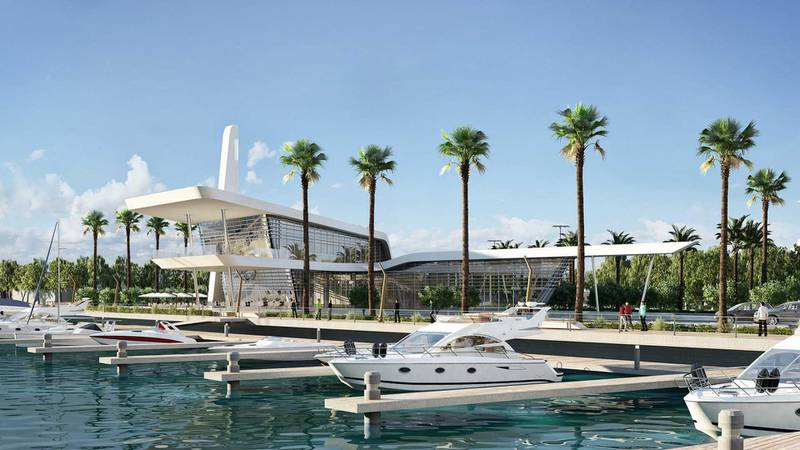 Al Qana - marina. Courtesy Department of Urban Planning and Municipalities and Al Barakah International Investment