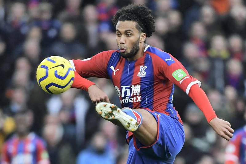Crystal Palace's Dutch defender Jairo Riedewald controls the ball during the English Premier League football match between Crystal Palace and Arsenal at Selhurst Park in south London on January 11, 2020. (Photo by DANIEL LEAL-OLIVAS / AFP) / RESTRICTED TO EDITORIAL USE. No use with unauthorized audio, video, data, fixture lists, club/league logos or 'live' services. Online in-match use limited to 120 images. An additional 40 images may be used in extra time. No video emulation. Social media in-match use limited to 120 images. An additional 40 images may be used in extra time. No use in betting publications, games or single club/league/player publications. /