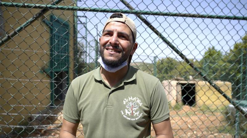 Chief animal keeper, Saif Rawashdeh, has been helping the bears settle into their new home. Amy McConaghy / The National