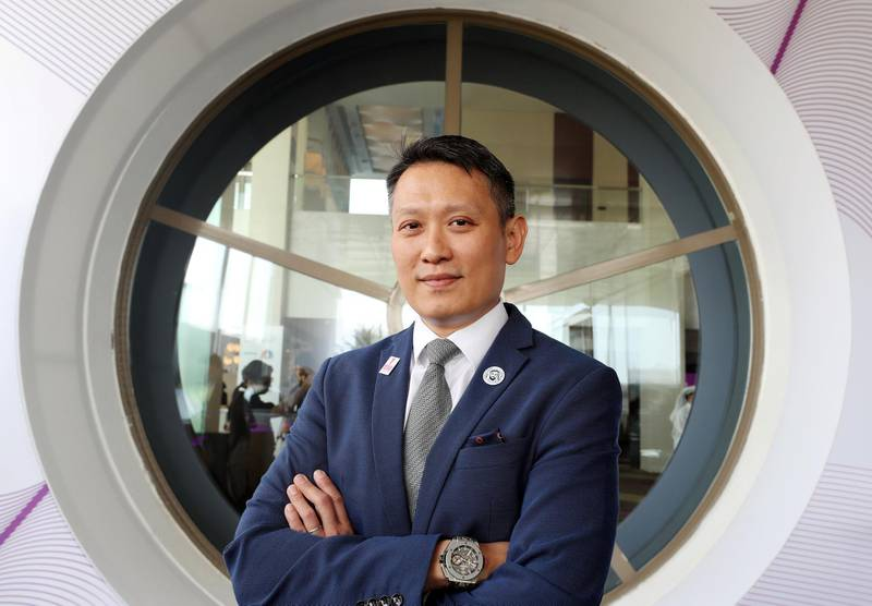 Abu Dhabi, United Arab Emirates - September 17, 2018: Richard Teng, CEO ADGM Financial Services Regulatory Authority. FinTech Abu Dhabi 2018, one of the leading FinTech and financial events in the MENA region. Monday, September 17th, 2018 at Fairmont Bab Al Bahr, Abu Dhabi. Chris Whiteoak / The National