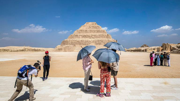 An image that illustrates this article Tomb of King Djoser reopens after 15 year restoration - in pictures