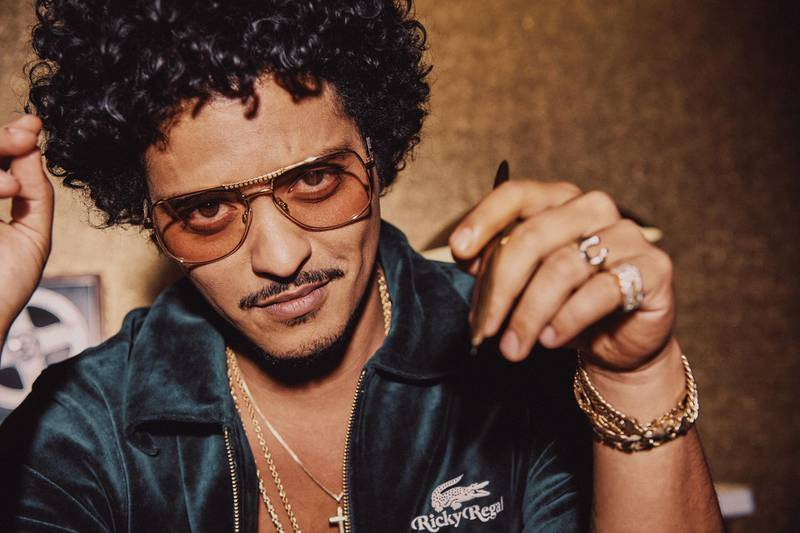 """Bruno Mars """"Ricky Regal"""" collection for Lacoste. Courtesy Lacoste."""