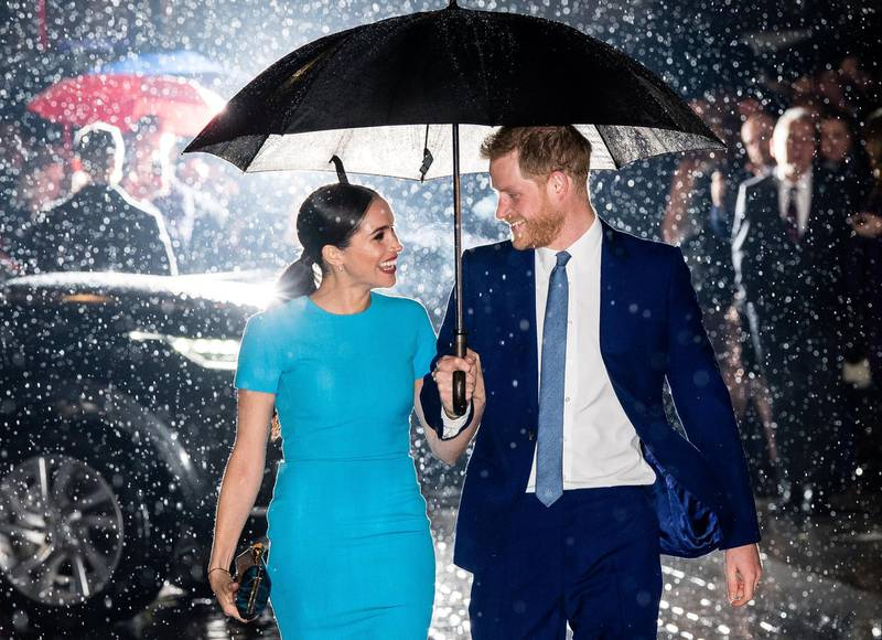 LONDON, ENGLAND - MARCH 05: Prince Harry, Duke of Sussex and Meghan, Duchess of Sussex attend The Endeavour Fund Awards at Mansion House on March 05, 2020 in London, England. (Photo by Samir Hussein/WireImage)