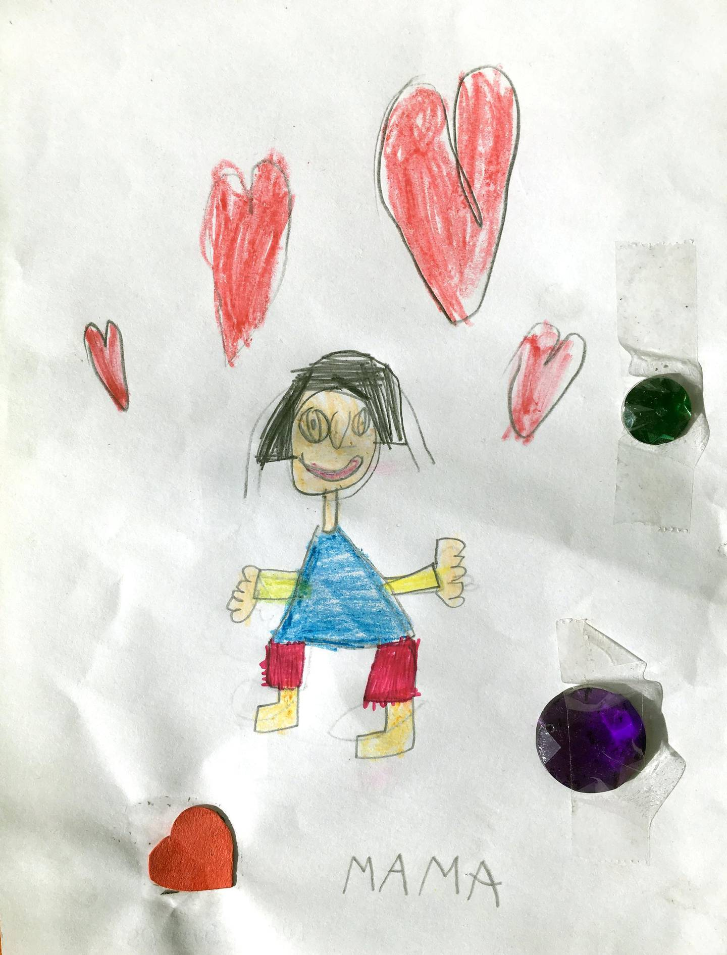 Child Drawing For Mom