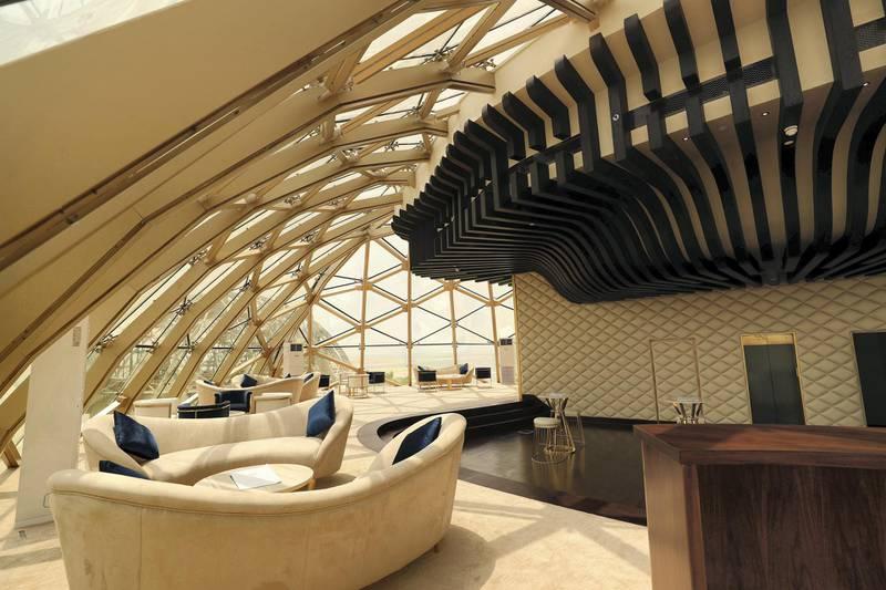 Dubai, United Arab Emirates - August 13, 2018: The Sweden Beach Palace. Monday, August 13th, 2018 in Dubai. Chris Whiteoak / The National