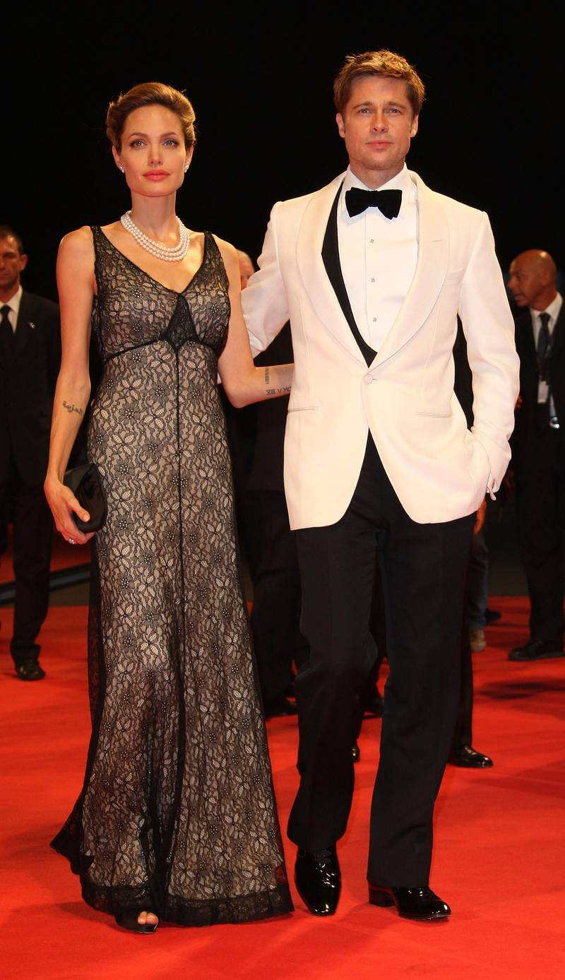 VENICE, ITALY - SEPTEMBER 02:  Actors Angelina Jolie and Brad Pitt attend The Assassination Of Jesse James By The Coward Robert Ford premiere in Venice during day 5 of the 64th Venice Film Festival on September 2, 2007 in Venice, Italy.  (Photo by MJ Kim/Getty Images)