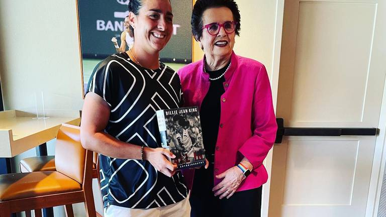 An image that illustrates this article Billie Jean King: 'Jabeur is living the dream the Original 9 had 51 years ago'