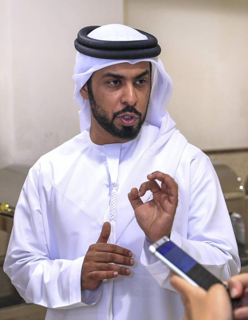 """Abu Dhabi, U.A.E., January 6, 2019.  The launch of adjd's new """"summary cases court"""".  Ahmad Al Yassi, Director of Labour Relations, Department of Human Resources and Emiratisation.Victor Besa / The NationalSection:  NAReporter:  Haneen Dajani"""