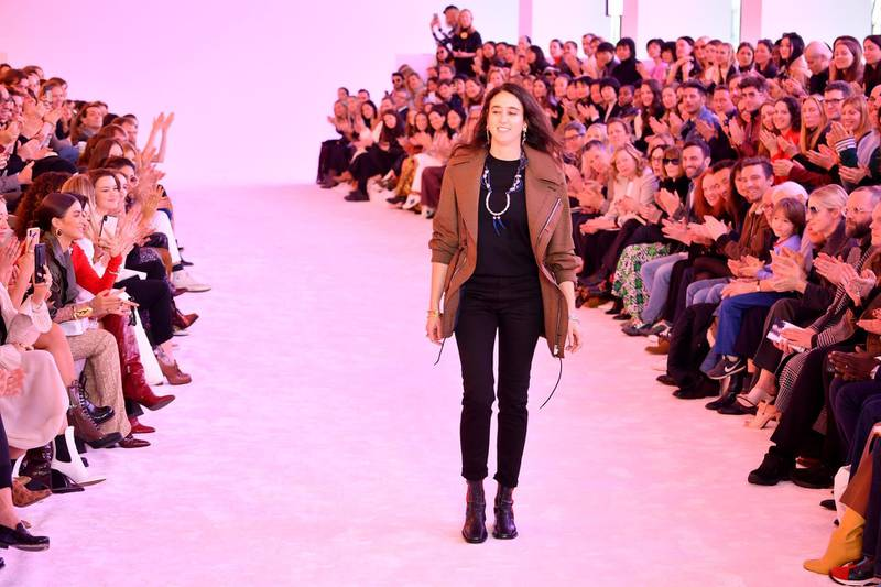 PARIS, FRANCE - FEBRUARY 28: Designer, Natacha Ramsay-Levi walks the runway during the finale of the Chloe show as part of the Paris Fashion Week Womenswear Fall/Winter 2019/2020 on February 28, 2019 in Paris, France. (Photo by Pascal Le Segretain/Getty Images) FILE: Natacha Ramsay-Levi To Step Down As Creative Director Of French Fashion House Chloe After 4 Years