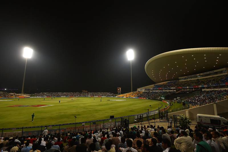 ABU DHABI, UNITED ARAB EMIRATES - SEPTEMBER 27:  A general view of action during the third T20 International match between Pakistan and West Indies at Zayed Cricket Stadium on September 27, 2016 in Abu Dhabi, United Arab Emirates.  (Photo by Tom Dulat/Getty Images)