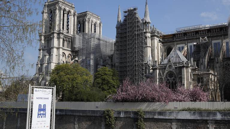 An image that illustrates this article Notre Dame cathedral reconstruction can begin at last