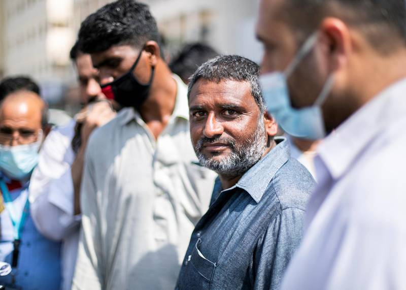 DUBAI, UNITED ARAB EMIRATES. 21 June 2020. Mohammed Akhtar came to queue outside Dnata Deira office today.Almost 150 Pakistani citizens line up today outside Dnata to get flight tickets to Pakistan. The doors did not open at their usual time, 9am. At 9:45am they were all asked to leave, and told that they can longer get tickets from here.(Photo: Reem Mohammed/The National)Reporter: SARWATSection: