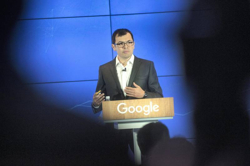Demis Hassabis, chief executive officer and co-founder of DeepMind Technologies Ltd.,  speaks during an event at Google's Kings Cross office in London, U.K., on Tuesday, Nov. 15, 2016. After being criticized for not paying its fair share of British tax, Alphabet Inc.s Google unit is trying to show its a good corporate citizen by offering five hours of free digital skills training to all U.K. residents. Photographer: Simon Dawson/Bloomberg via Getty Images