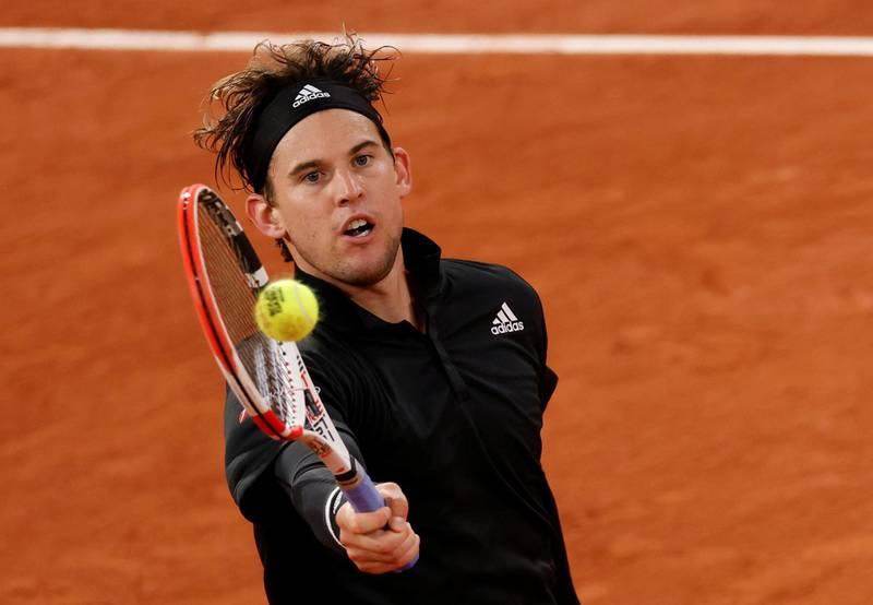 Tennis - French Open - Roland Garros, Paris, France - October 2, 2020  Austria's Dominic Thiem in action during his third round match against Norway's Casper Ruud  REUTERS/Gonzalo Fuentes