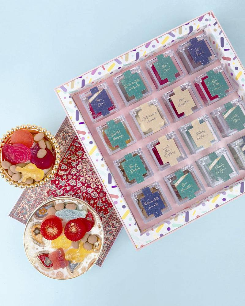 Candygram gift box of 10 flavours, Dh165, SugarGram