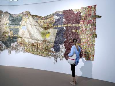 Efie Gallery enters UAE art scene with new El Anatsui works - in pictures