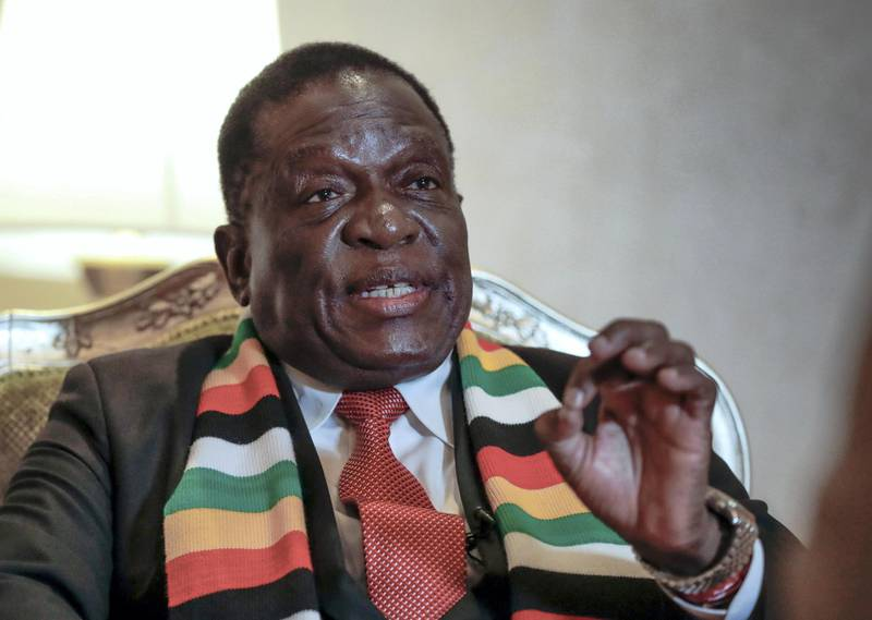 Abu Dhabi, March 17, 2019.  Interview with the President of Zimbabwe, Emmerson Mnangagwa.Victor Besa/The NationalSection:  NAReporter:  Charlie Mitchell and James Haines-Young