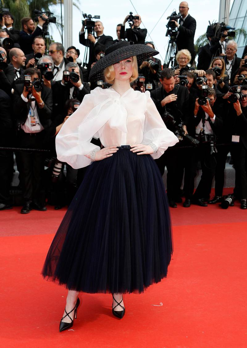 epa07589927 Elle Fanning arrives for the screening of 'Once Upon A Time... In Hollywood' during the 72nd annual Cannes Film Festival, in Cannes, France, 21 May 2019. The movie is presented in the Official Competition of the festival which runs from 14 to 25 May.  EPA-EFE/SEBASTIEN NOGIER