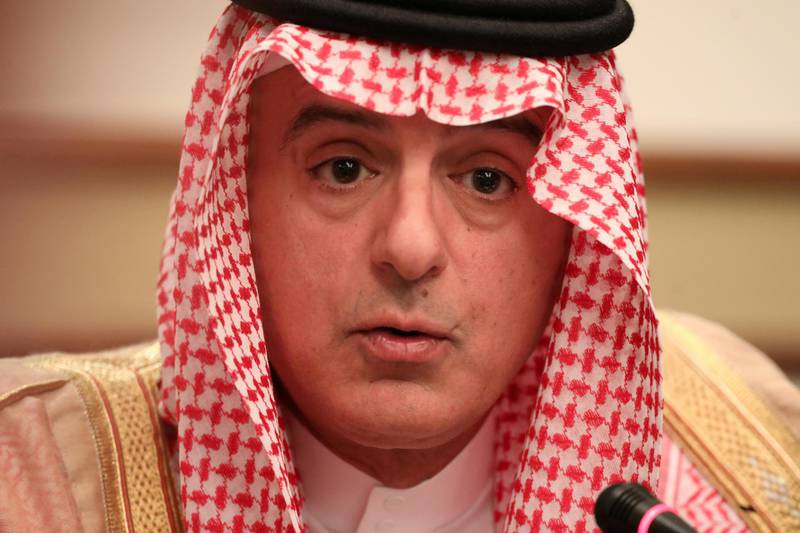FILE PHOTO: Saudi Arabia's Foreign Minister Adel al-Jubeir speaks at a briefing with reporters in London, Britain June 20, 2019. REUTERS/Simon Dawson/File Photo