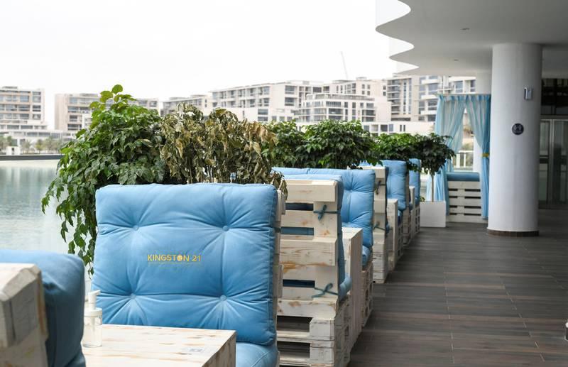 Abu Dhabi, United Arab Emirates - The exterior decor for the newly opened Kingston 21 Jamaican Restaurant at Al Raha beach. Khushnum Bhandari for The National