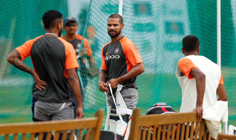 Cricket - India Nets - Edgbaston, Birmingham, Britain - July 30, 2018   India's Shikhar Dhawan during nets   Action Images via Reuters/Andrew Boyers