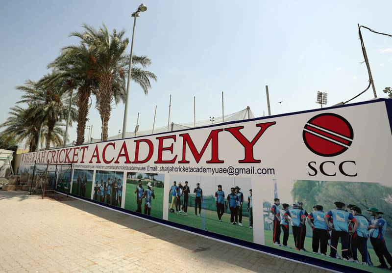 Sharjah, United Arab Emirates - Reporter: N/A. Sport. Sharjah cricket academy at Sharjah cricket stadium. Wednesday, June 24th, 2020. Sharjah. Chris Whiteoak / The National