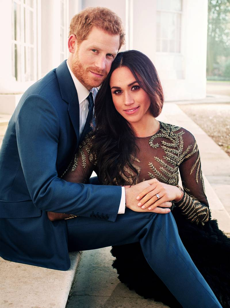 FILE PHOTO: An official engagement photo released by Kensington Palace of Prince Harry and Meghan Markle taken by photographer Alexi Lubomirski, at Frogmore House in Windsor, Britain, December 21, 2017. Picture taken in the week commencing December 17, 2017. Alexi Lubomirski/Courtesy of Kensington Palace/Handout via REUTERS  ATTENTION EDITORS - THIS IMAGE WAS SUPPLIED BY A THIRD PARTY. NO RESALES. NO ARCHIVE./File Photo
