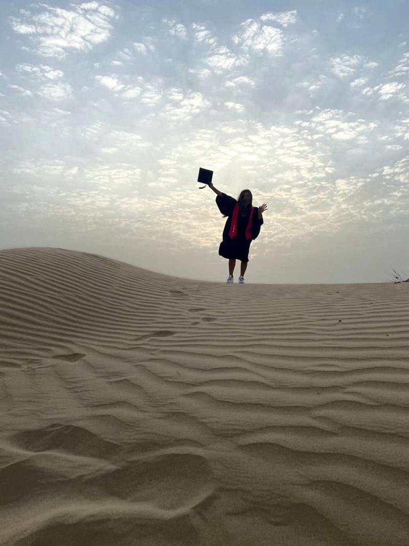 Kianah Murao, a pupil in Dubai will be graduating from school this month. Courtesy Kianah Murao