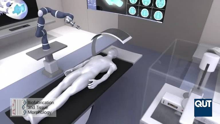 An image that illustrates this article Australia pavilion at Expo 2020 Dubai showcases technology for 3D printing body parts