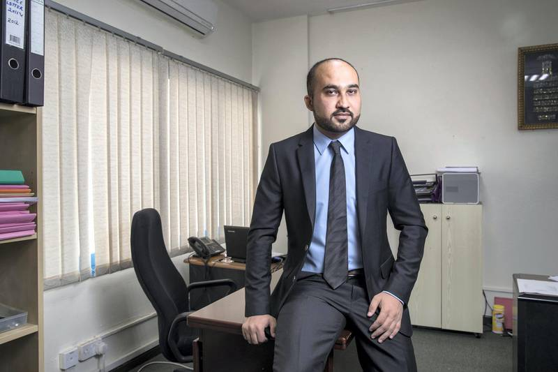 DUBAI, UNITED ARAB EMIRATES. 24 DECEMBER 2017. Adeel Zaman, Marketing Manager at A.N. Associates DMCC. An accountancy firm that is benefitting from the introduction of the tax. (Photo: Antonie Robertson/The National) Journalist: Chris. Section: Business.