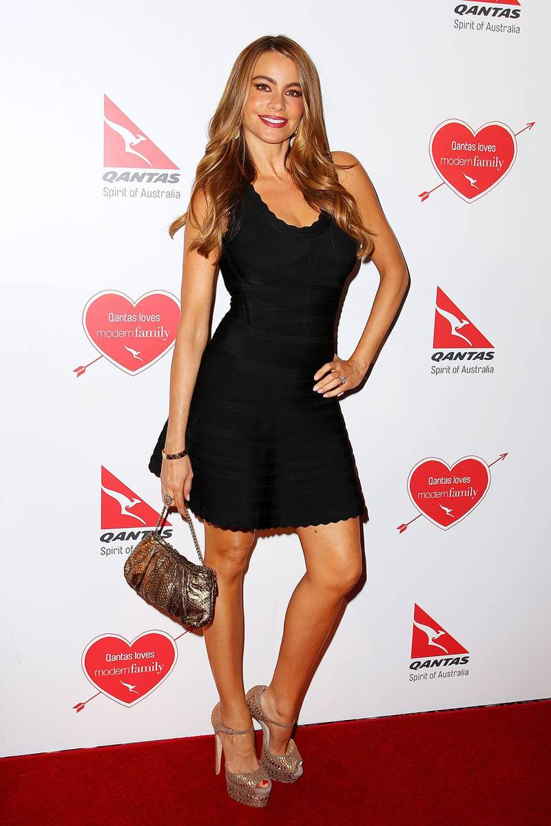 SYDNEY, AUSTRALIA - FEBRUARY 20:  Sofa Vergara arrives at the Modern Family Media Call at The Sebel on February 20, 2014 in Sydney, Australia. The cast from the popular television program are in Australia filming their Australian vacation episode.  (Photo by Lisa Maree Williams/Getty Images)