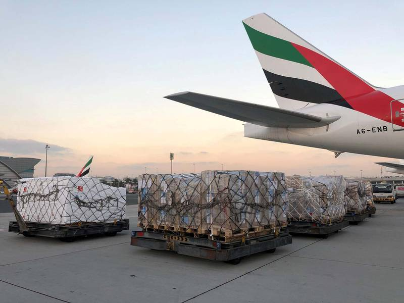 Government of Dubai Media Office – 01 March 2021: Vice President and Prime Minister of the UAE and Ruler of Dubai His Highness Sheikh Mohammed bin Rashid Al Maktoum has ordered aid flights to transport urgent humanitarian aid and medical supplies from the World Health Organization's (WHO) Logistics Hub in Dubai to Sudan.Under HH Sheikh Mohammed's directives, the International Humanitarian City (IHC), chartered two aircraft to deliver the aid material to Sudan. Courtesy Dubai Media Office