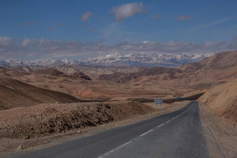Bamyan province; the road leading West from the provincial capital.