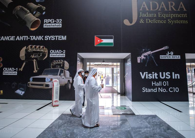 Abu Dhabi, United Arab Emirates, February 21, 2021.  Idex 2021.  Social distancing is a must on day 1 of IDEX.Victor Besa / The NationalSection:  NA/Stock Images