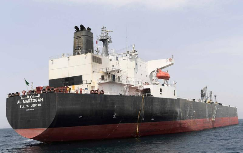 epa07568236 A handout picture dated 13 May 2019 released by Emirates News Agency (WAM) shows the MV Al Marzoqah oil tanker under Saudi Arabia flag which was attacked on 12 May 2019 outside Fujairah port, United Arab Emirates, 13 May 2019. Media reports on 13 May 2019 state that the United Arab Emirates (UAE) Foreign Office reported that four commercial vessels have been targeted by sabotage operations near UAE territorial waters. Saudi Arabia's energy minister Khalid al-Falih added that two Saudi oil tankers had been targeted in the attack.  EPA/WAM HANDOUT HANDOUT  HANDOUT EDITORIAL USE ONLY/NO SALES