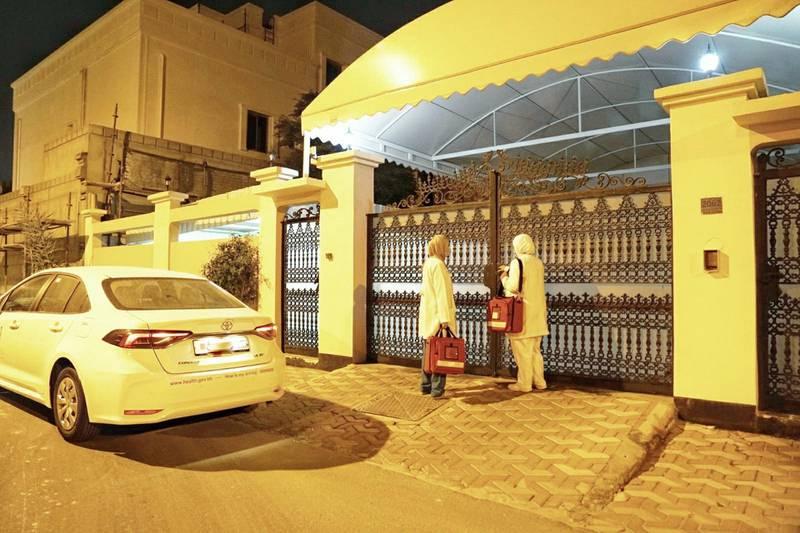 Bahrain's Mobile Vaccination Unit. Courtesy: Bahrain News Agency