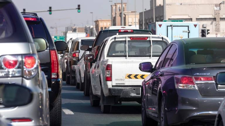 An image that illustrates this article Accident causes heavy congestion during morning rush hour in Dubai