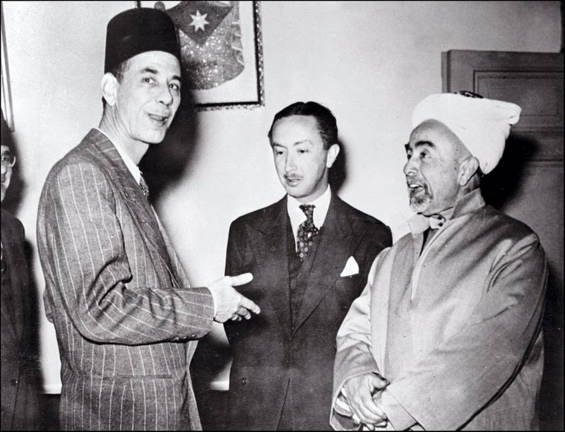 King Abdullah (r) of Transjordan (later Jordan), Commandant of the Allied Arab forces, talks 13 May 1948 in Amman with Abed al-Rahman Azzam (l), the secretary general of the Arab League and Abd al-Elah Ibn Ali, the Prince Regent of Iraq, the day before the beginning of the first Arab-Israeli War. On November 29, 1947, the United Nations' General Assembly voted resolution 181 on the partition of Palestine in two states, one Jewish and one Arab. Jerusalem was to remain under international control. The State of Israel was proclamed on 14 May 1948 by the Jewish National Council and was recognized by the United States and the Soviet Union 15 and 17 May the same year. Arab States of Lebanon, Syria, Jordan, Egypt and Iraq crossed the borders from north, east and south with their regular armies 15 May 1948. Agreements signed in 1949 between Israel and the Arab States ended the 1948 Arab-Israeli War, and established the armistice lines between Israel and the West Bank, also known as the Green Line, until the 1967 Six-Day War.King Abdullah, son of Cherif Hussein el-Hachemi, was assassinated by a Palestinian refugee in Amman 20 July 1951. (Photo by AFP)
