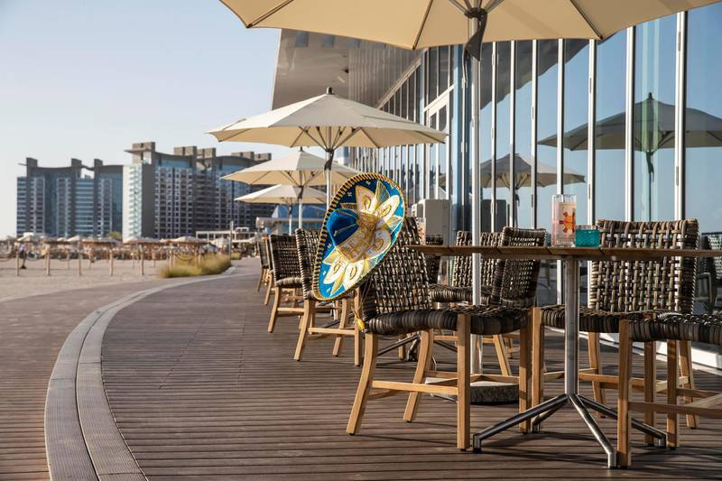 DUBAI, UNITED ARAB EMIRATES. 15 OCTOBER 2020. Newly opened West Beach located on The Palm Dubai. One of the two outlets that are open, Senōr Pico. (Photo: Antonie Robertson/The National) Journalist: Sophie Prideaux Section: National.