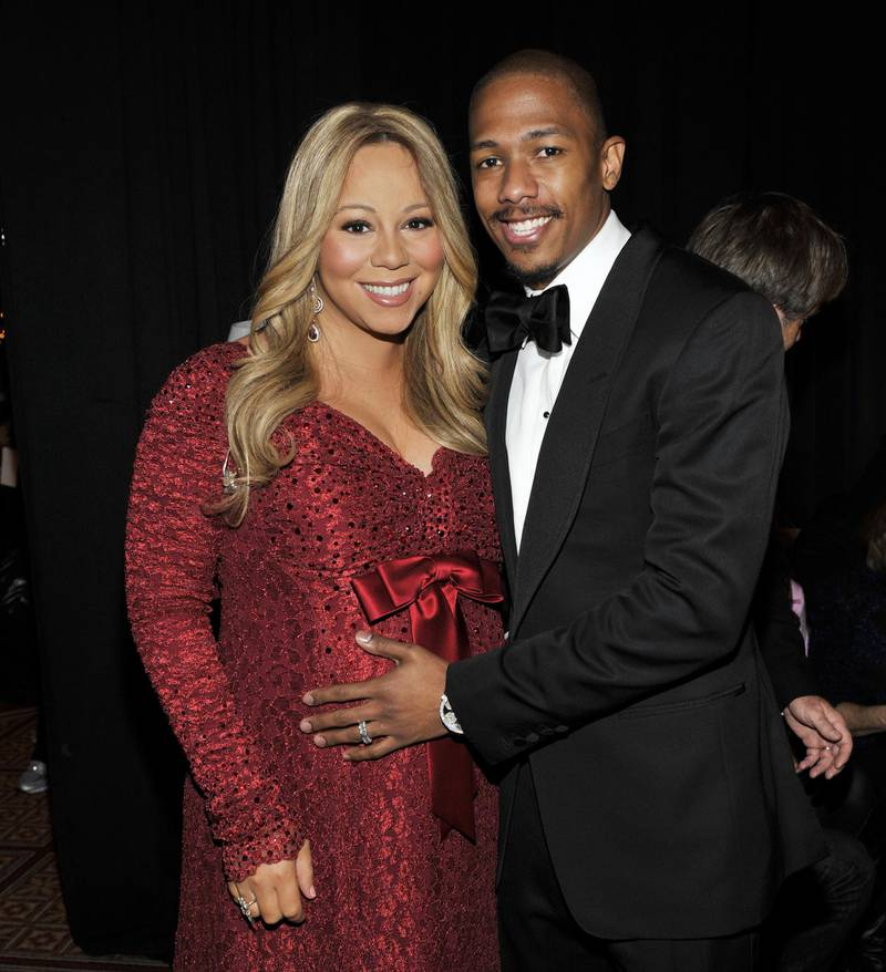 """(EXCLUSIVE, Premium Rates Apply) (EXCLUSIVE COVERAGE) Singer Mariah Carey and Nick Cannon attend TNT's """"Christmas in Washington 2010"""" at the National Building Museum on December 12, 2010 in Washington, DC. """"Christmas in Washington 2010"""" airs on TNT December 17 at 8pm. 20792_004_0008.JPG"""