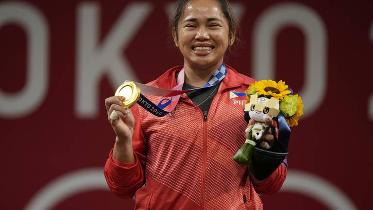 An image that illustrates this article Hidilyn Diaz's gold is a matter of pride for the Philippines