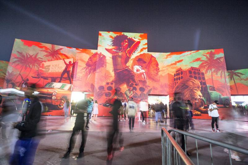 Dubai, United Arab Emirates-  People arriving at the Sole Dubai Festival at D3.  Leslie Pableo for The National for Saeed Saeed's story