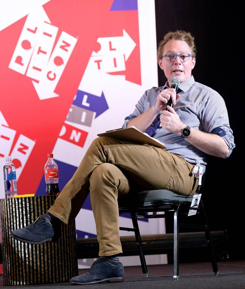 NASHVILLE, TENNESSEE - OCTOBER 26: Clay Aiken speaks onstage during the 2019 Politicon at Music City Center on October 26, 2019 in Nashville, Tennessee. (Photo by Jason Kempin/Getty Images for Politicon )
