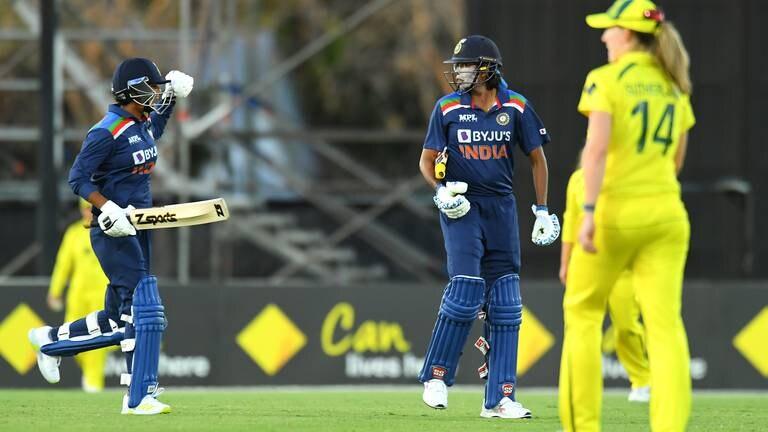 An image that illustrates this article India end Australian women's record 26-match ODI winning streak