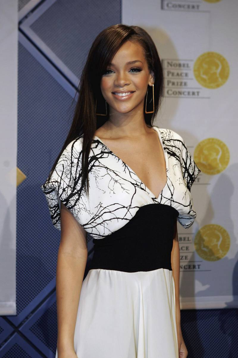 OSLO, NORWAY - DECEMBER 11:  Singer Rihanna attends a press conference for the Nobel Peace Prize Concert to celebrate The Nobel Peace Prize 2006 at Oslo Spektrum on December 11, 2006 in Oslo, Norway.  (Photo by MJ Kim/Getty Images)
