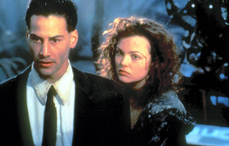 Editorial use only. No book cover usage.Mandatory Credit: Photo by Moviestore/REX/Shutterstock (1581922a)Johnny Mnemonic,  Keanu Reeves,  Dina MeyerFilm and Television
