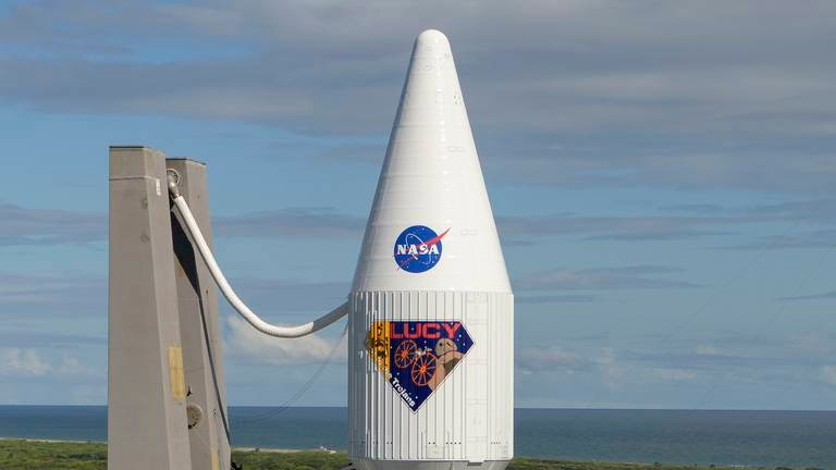 An image that illustrates this article Nasa spacecraft Lucy ready for Trojan asteroids mission