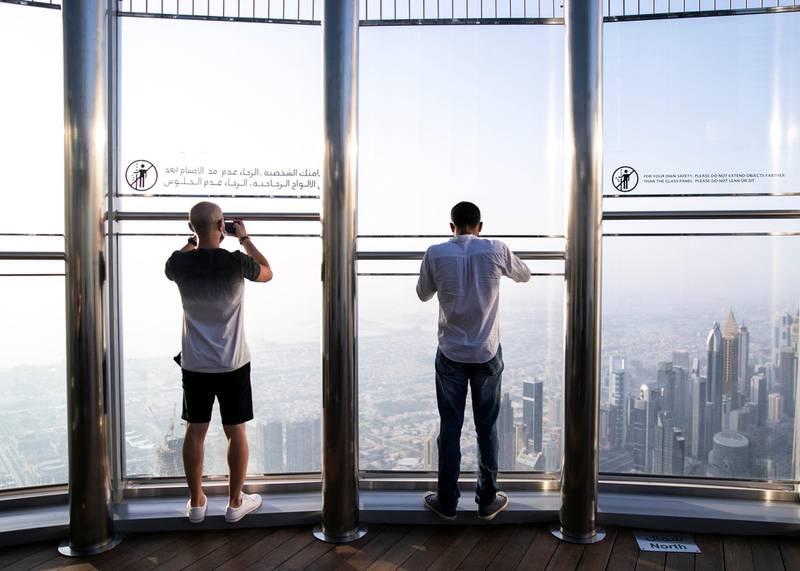 DUBAI, UNITED ARAB EMIRATES. 11 JUNE 2020. At The Top, Burj Khalifa. (Photo: Reem Mohammed/The National)Reporter:Section: