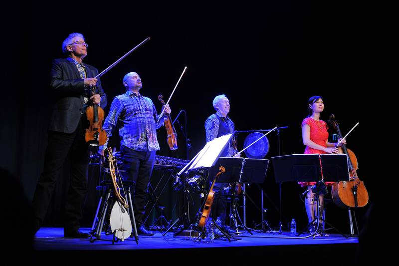 ABU DHABI, UNITED ARAB EMIRATES - - -  September 16, 2015 --- The Kronos Quartet performed at the Black Box at NYUAD on Wednesday night, September 16, 2015.   DELORES JOHNSON / The National )  *** Reporter is Rob Garratt *** *** Local Caption ***  DJ-160915-AL-Kronos Quartet-009.jpg