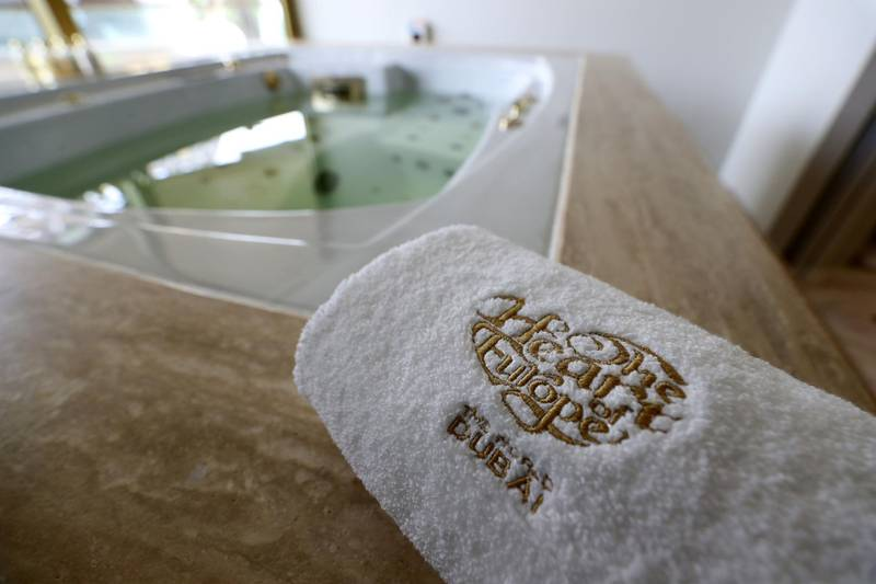 Dubai, United Arab Emirates - August 13, 2018: The jacuzzi at the Sweden Beach Palace. Monday, August 13th, 2018 in Dubai. Chris Whiteoak / The National